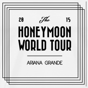 Honeymoon Tour 2015 merch - Premium T-skjorte for menn