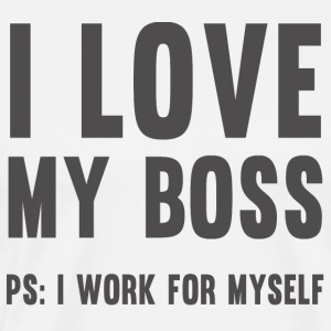 I love my boss - T-Shirt - white - Men's Premium T-Shirt