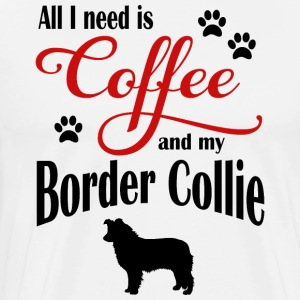 Border Collie Coffee - Premium-T-shirt herr