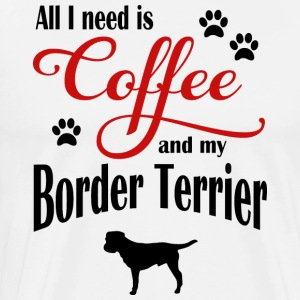 Border Terrier Coffee - Männer Premium T-Shirt