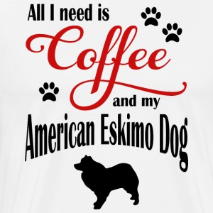Eskimo Dog Coffee - Premium-T-shirt herr