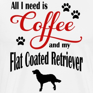 Flat Coated Retriever Coffee - Men's Premium T-Shirt