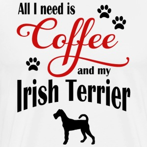 Irish Terrier Kaffe - Premium T-skjorte for menn