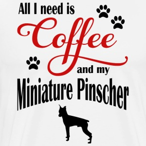 Miniature Pinscher Coffee - Men's Premium T-Shirt