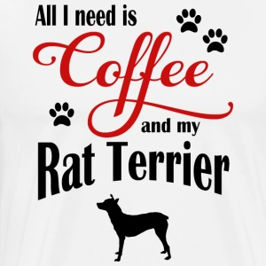 Rat Terrier Coffee - Premium-T-shirt herr