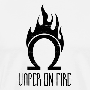Vaper on Fire - Steamers Steam Subohm Ohm Vape On - Men's Premium T-Shirt