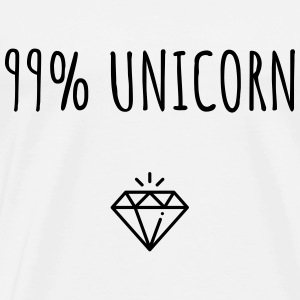 99% Unicorn - Premium T-skjorte for menn