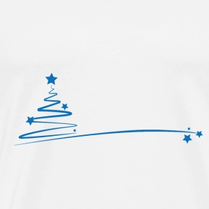 blue christmas - Premium T-skjorte for menn