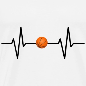 My heart beats for basketball! present - Men's Premium T-Shirt