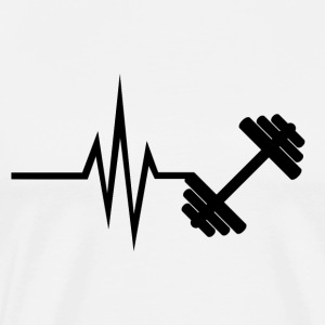My heart beats for fitness - sports training - Men's Premium T-Shirt