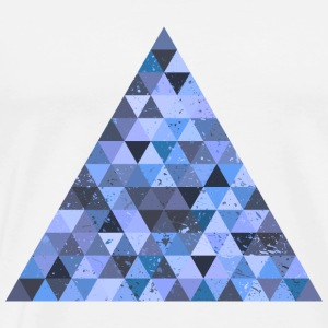 geek triangle hippie ornement grunge rétro diamant - T-shirt Premium Homme