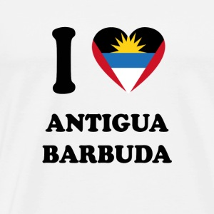 i love home country gifts ANTIGUA BARBUDA - Men's Premium T-Shirt