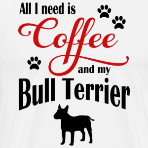 Bull Terrier Coffee - Männer Premium T-Shirt