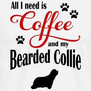 Bearded Collie Coffee - Männer Premium T-Shirt