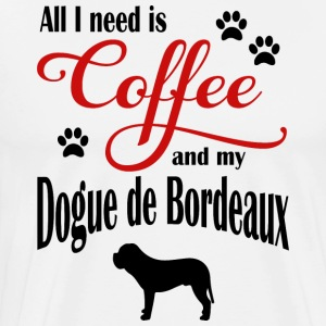 Dogue de Bordeaux Coffee - Premium-T-shirt herr