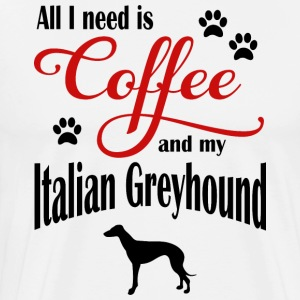 Italian Greyhound Coffee - Männer Premium T-Shirt