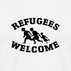 Refugees Welcome! - Men's Premium T-Shirt