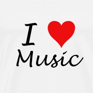 I Love Music - Herre premium T-shirt