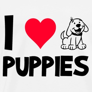 I LOVE PUPPIES! - Männer Premium T-Shirt