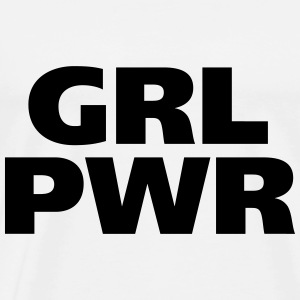 GRL PWR Girl Power cool filles femmes fortes s'adaptent - T-shirt Premium Homme