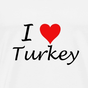 I Love Turkey - Premium T-skjorte for menn