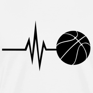 My heart beats for basketball - sports fitness - Men's Premium T-Shirt