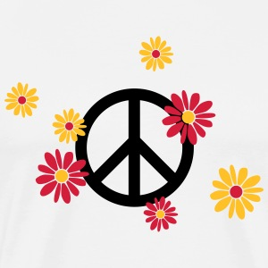 Peace sign flower Love flower power Valentine's Day - Men's Premium T-Shirt