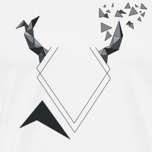 Triangular Gray Cerf - Men's Premium T-Shirt
