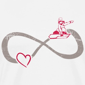 Infinite love ∞ I love snowboarding ∞ Winter - Men's Premium T-Shirt