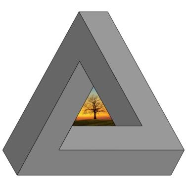 3f2fb99f52e48 SWAG. Árbol en Triángulo del inconformista - Camiseta premium hombre