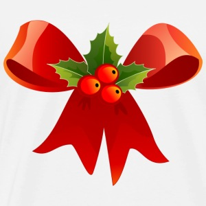 Christmas laurel bow - Men's Premium T-Shirt