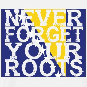 never forget roots home Bosnien Herzegowina - Männer Premium T-Shirt