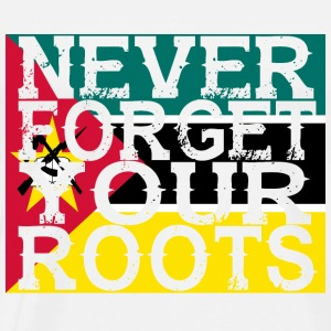 never forget roots home Mosambik - Männer Premium T-Shirt