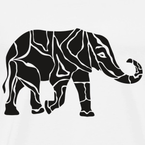 Elephant tattoo - Mannen Premium T-shirt