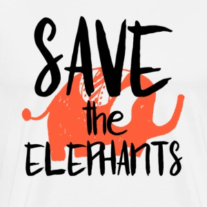 Save the Elephants - T-shirt Premium Homme