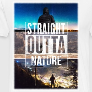 Straight Outta Nature - Männer Premium T-Shirt