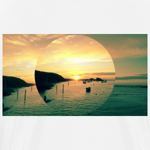 Sunset Bude, Cornwall - Men's Premium T-Shirt