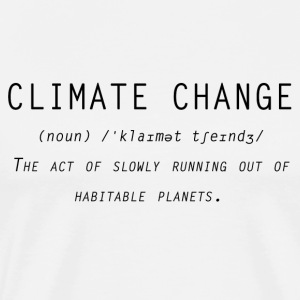 Climate change definition - Men's Premium T-Shirt