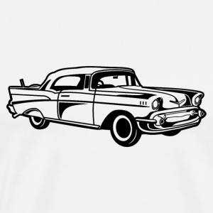 Chevy Bel Air / Veteranbiler 01_schwarz - Premium T-skjorte for menn