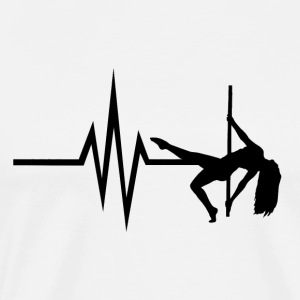 My heart beats for Pole Dance - Poledance Dance - Men's Premium T-Shirt