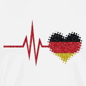 My heart beats for Germany - German home - Men's Premium T-Shirt