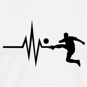 My heart beats for football - Sport Ballsport - Men's Premium T-Shirt
