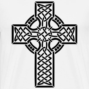 CELTIC CROSS T-SHIRT. - Men's Premium T-Shirt