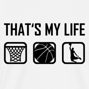This is my life - Basketball Ballsportball - Men's Premium T-Shirt