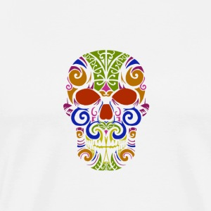 Calavera mexicana colorida - Men's Premium T-Shirt