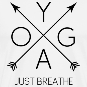 YOGA Just Breathe - black - Men's Premium T-Shirt