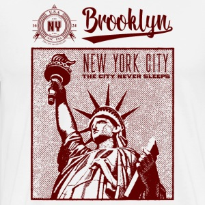 New York City · Brooklyn - Miesten premium t-paita