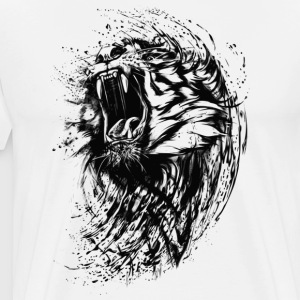 Lion Raw - Men's Premium T-Shirt