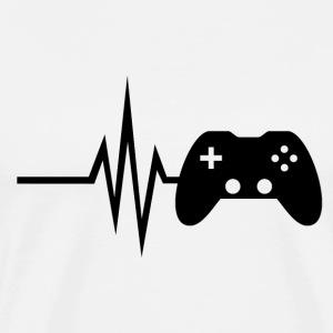 My heart beats for gaming - multiplayer esport - Men's Premium T-Shirt