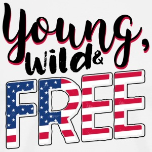 Young, wild and free - USA, America, travel, travel - Men's Premium T-Shirt